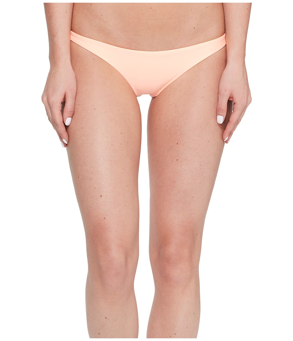 Vitamin A Swimwear Samba Ruched Back Bottom (Eco Peach) Women
