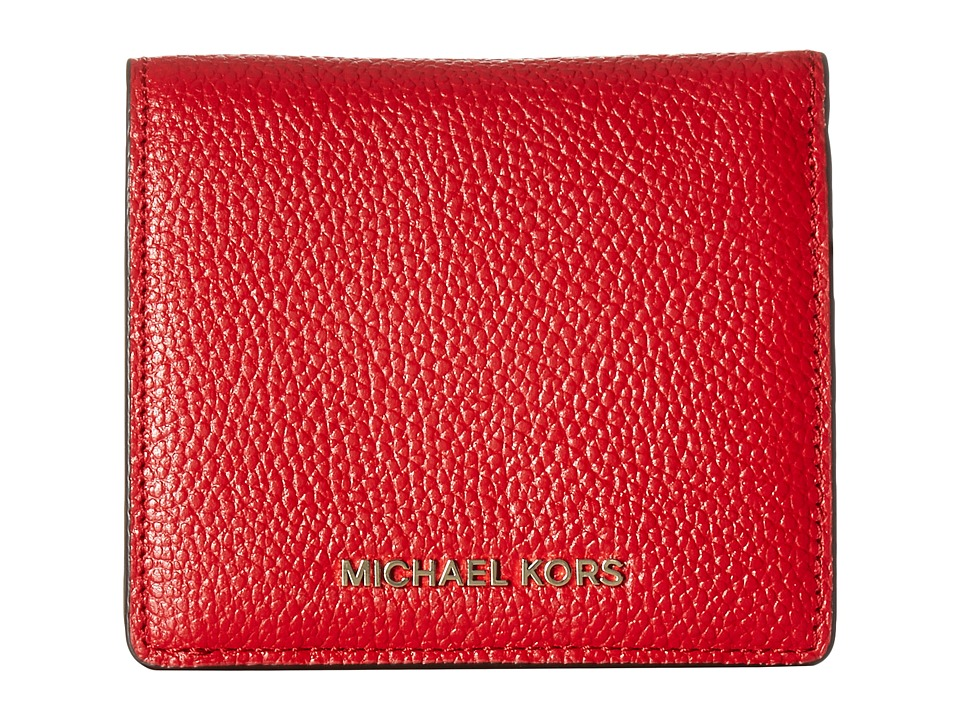 MICHAEL Michael Kors - Mercer Carryall Card Case (Bright Red) Credit card Wallet