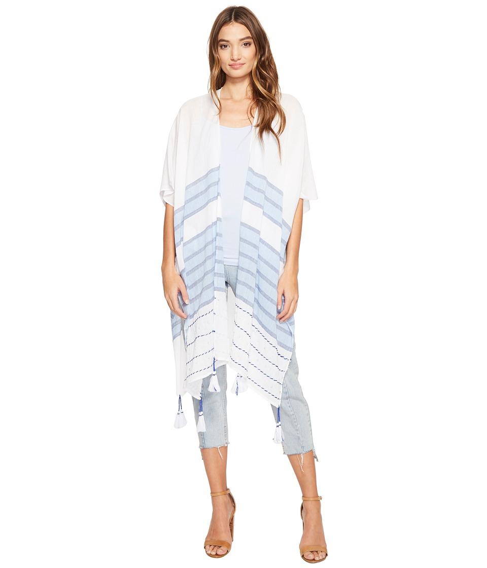Steve Madden - Multi Stripes and Beads Topper (Denim) Women's Clothing