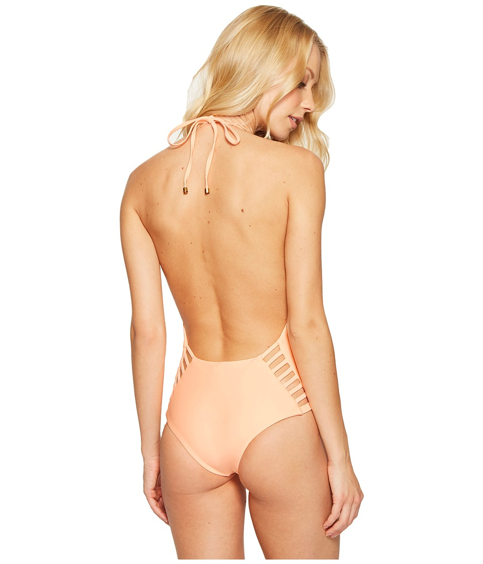 Vitamin A Swimwear - Bianca Bodysuit (Eco Peach) Women's Swimsuits One Piece