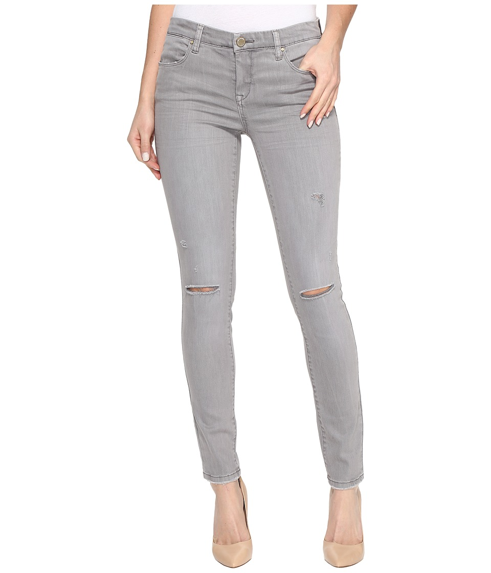 Blank NYC - Distressed Cropped Skinny in Feather Grey (Feather Grey) Women's Casual Pants