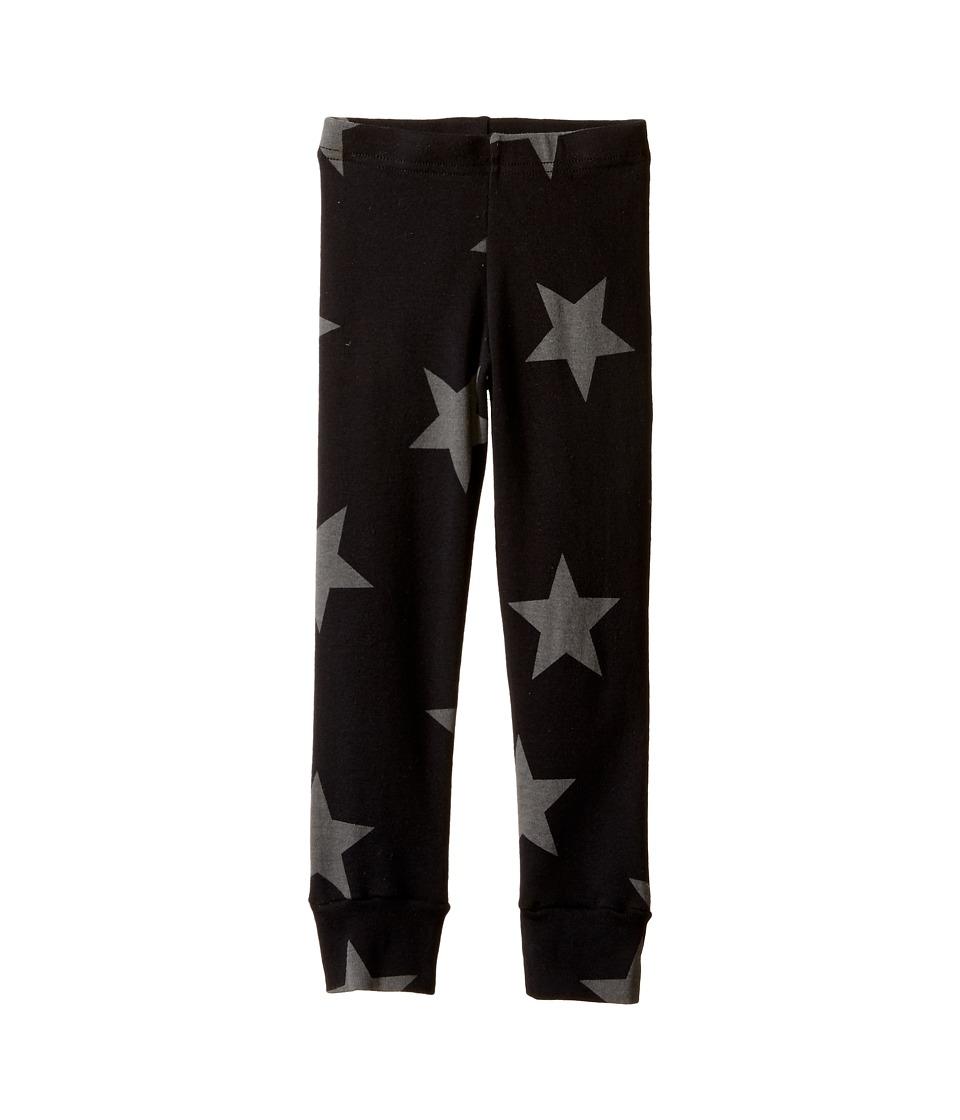 Nununu - Star Leggings (Infant/Toddler/Little Kids) (Black 1) Kid's Casual Pants