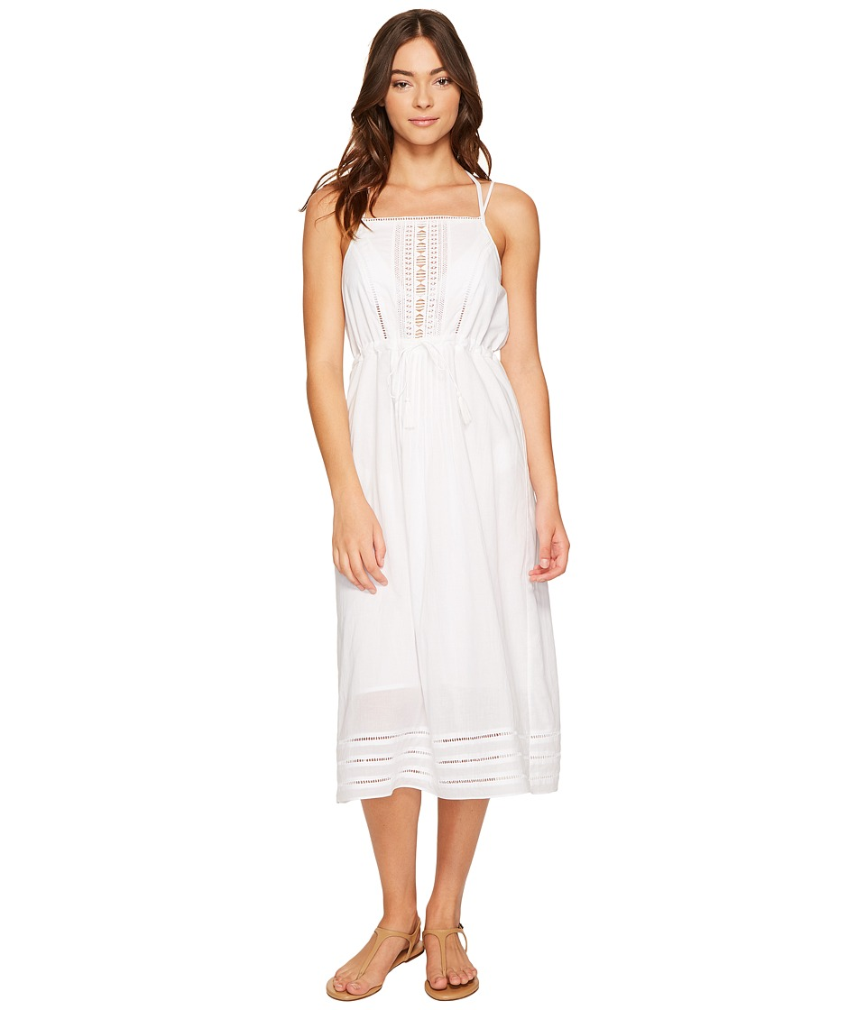 Vitamin A Swimwear Beachwood Dress Cover-Up (White Gold Coast Cotton Voile) Women