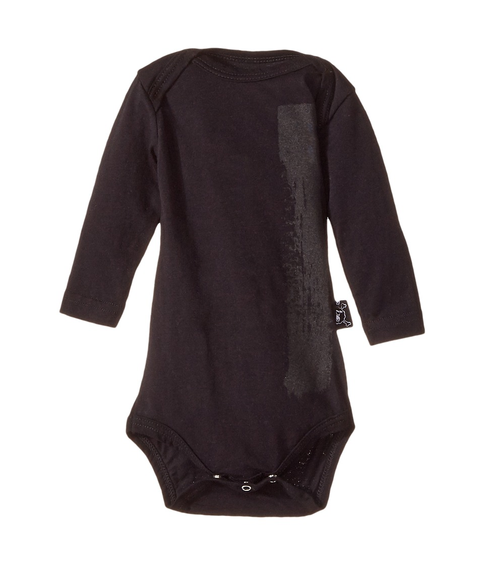 Nununu - Brush Stroke Bodysuit (Infant) (Black) Kid's Jumpsuit & Rompers One Piece