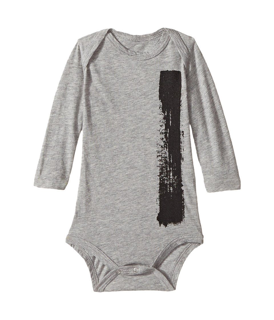 Nununu - Brush Stroke Bodysuit (Infant) (Heather Grey) Kid's Jumpsuit & Rompers One Piece