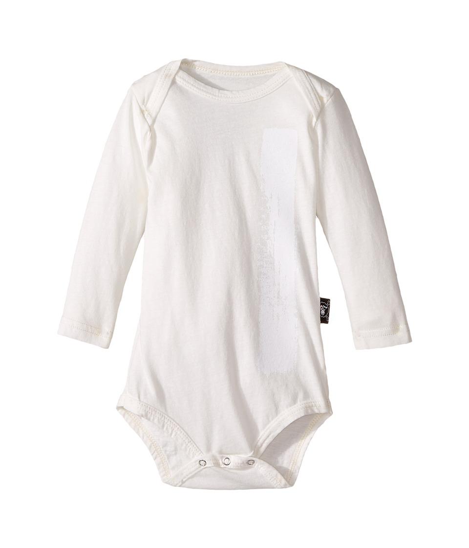 Nununu - Brush Stroke Bodysuit (Infant) (White) Kid's Jumpsuit & Rompers One Piece
