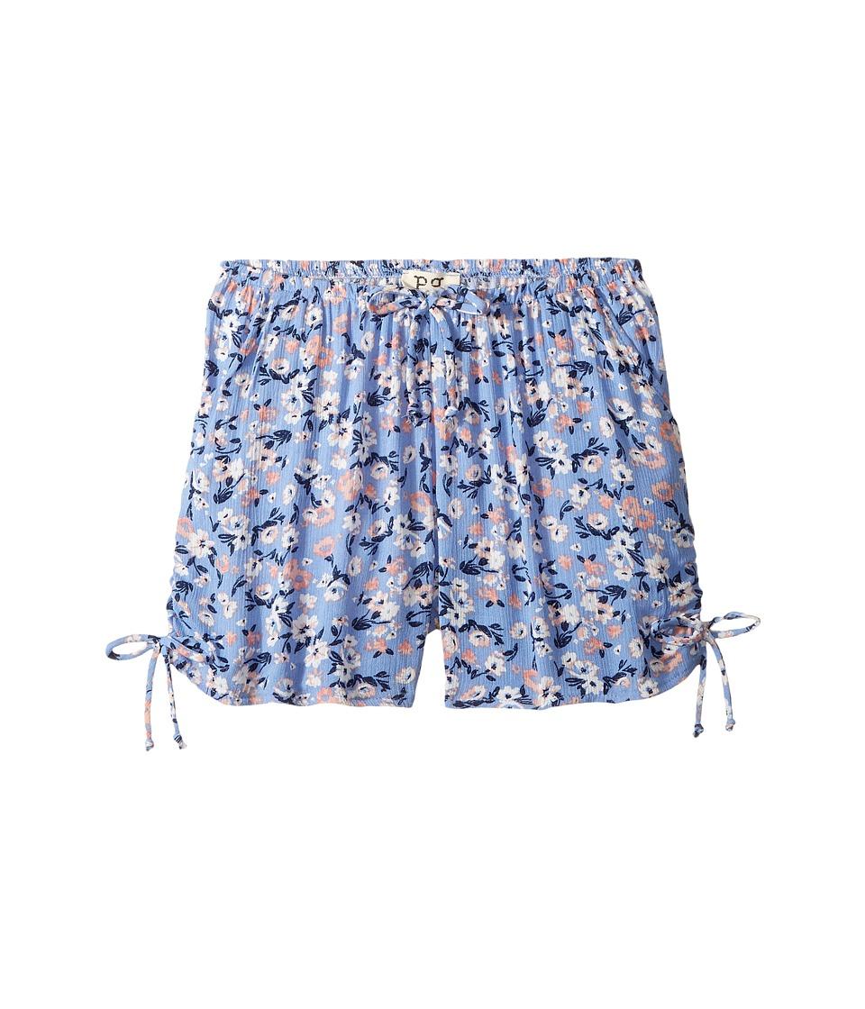 People's Project LA Kids - Milly Shorts (Big Kids) (Light Blue) Girl's Shorts
