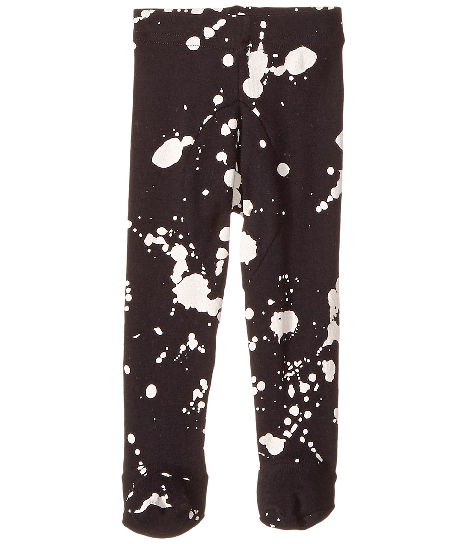 Nununu - Splash Leggings Footie (Infant) (Black) Kid's Casual Pants