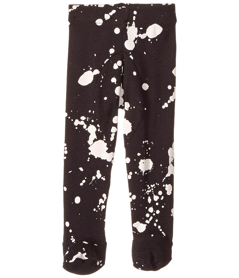 Nununu - Splash Leggings Footie (Infant) (Black) Kid's Casual Pants