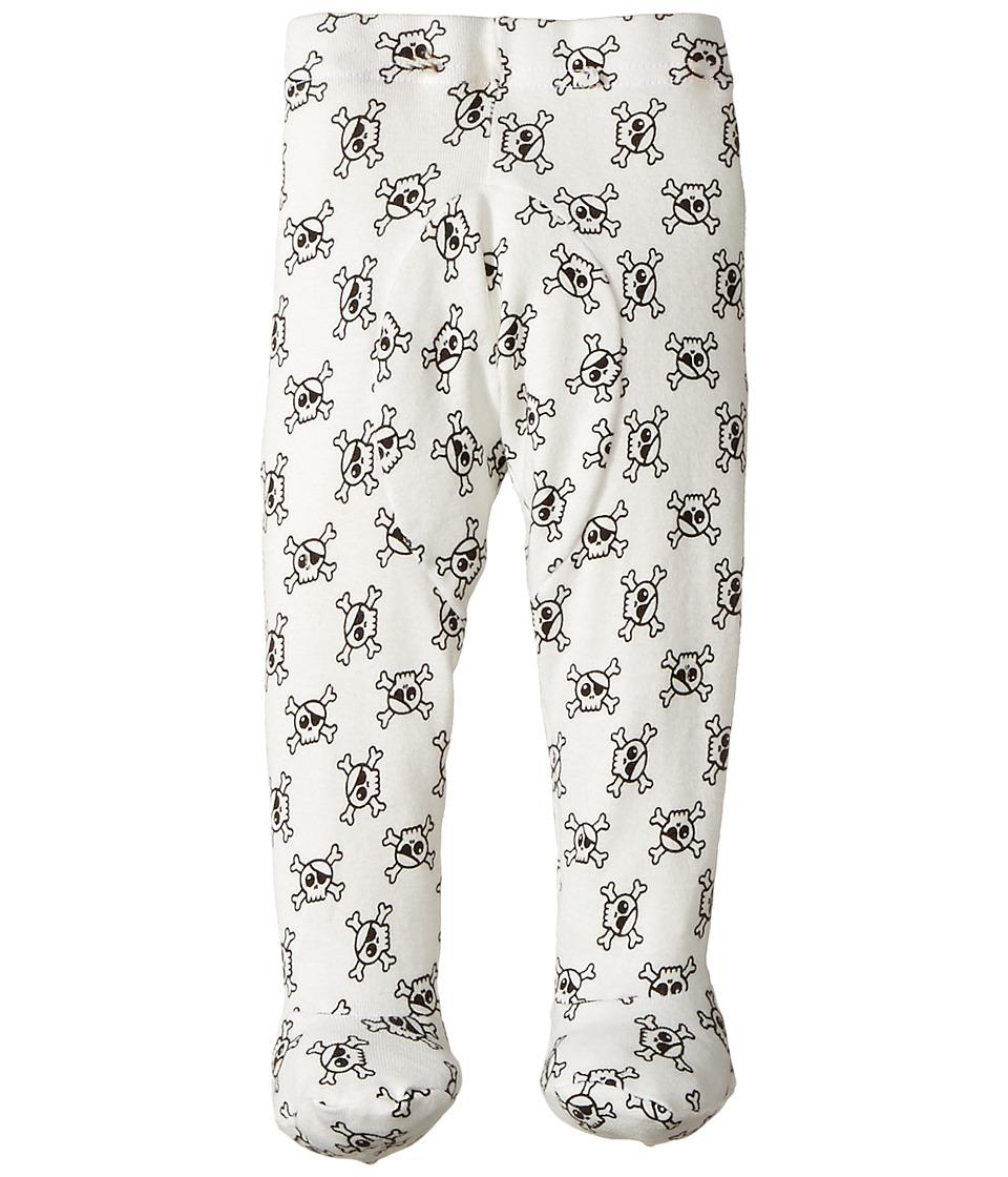 Nununu - Skull Leggings Footie (Infant) (White) Kid's Casual Pants