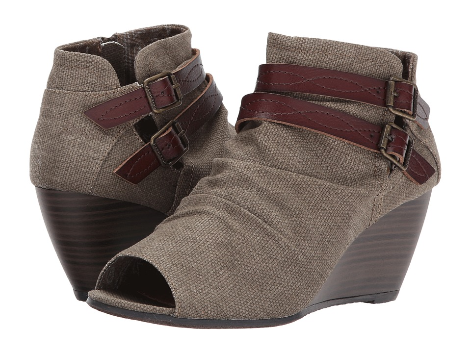 Blowfish - Boly (Brown Rancher Canvas/Dyecut) Women's Wedge Shoes