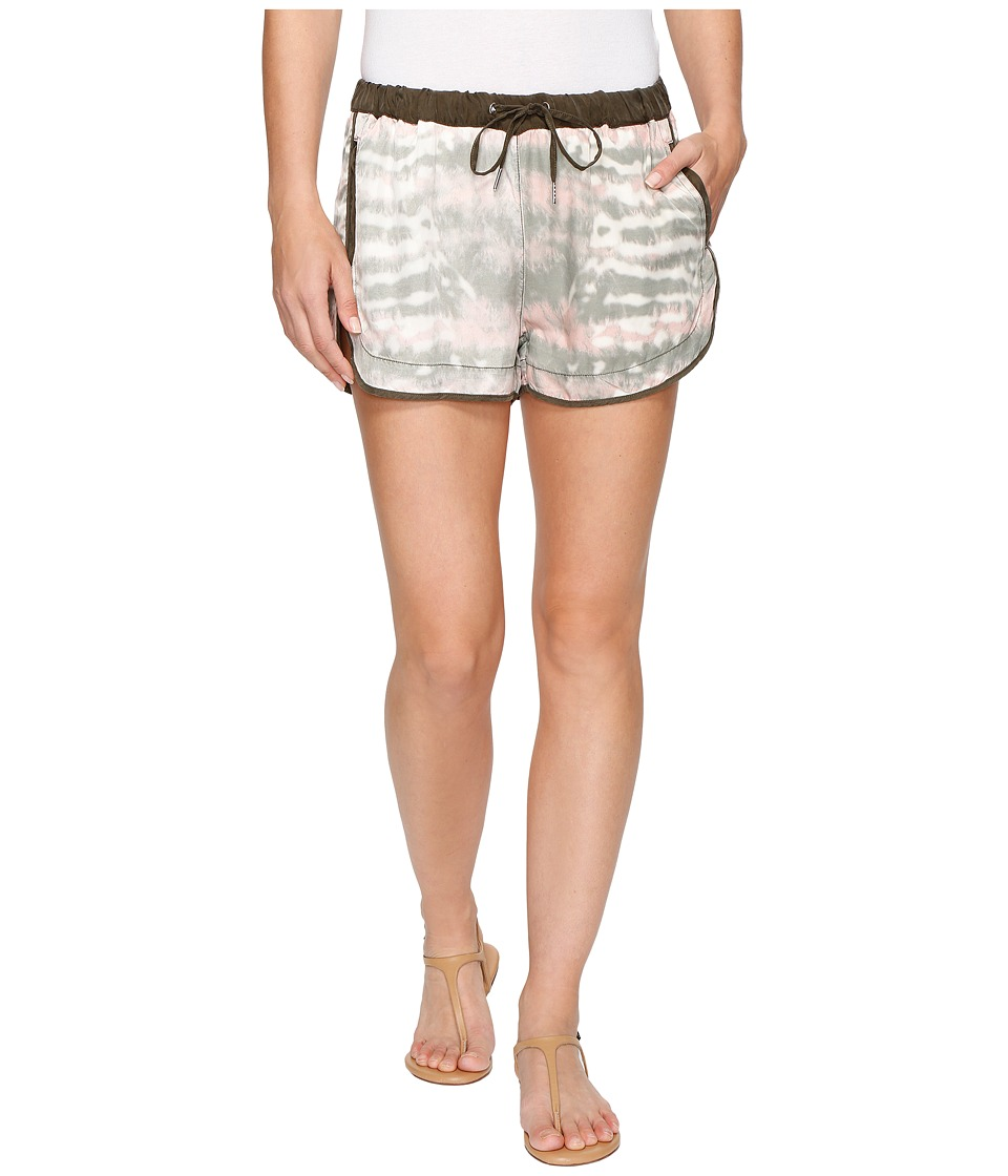 Blank NYC - Novelty Detailed Drawstring Shorts in Green Beaner (Green Beaner) Women's Shorts