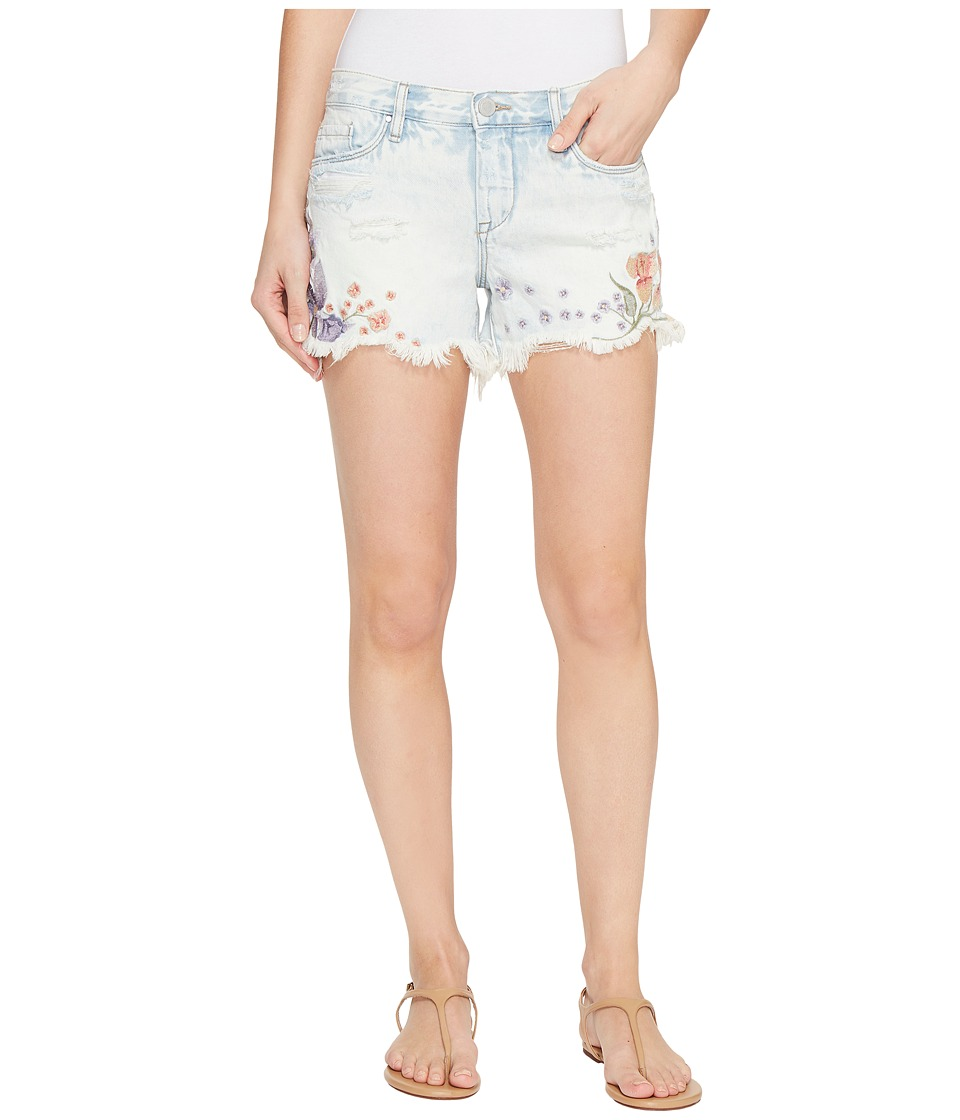 Blank NYC - Floral Embroidered Denim Shorts in Sitting Pretty (Sitting Pretty) Women's Shorts