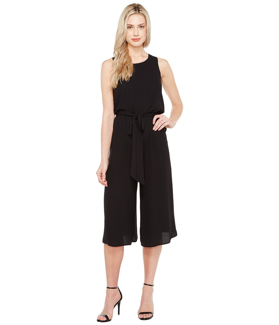 Vince Camuto - Sleeveless Wide Leg Jumpsuit (Black) Women's Jumpsuit & Rompers One Piece