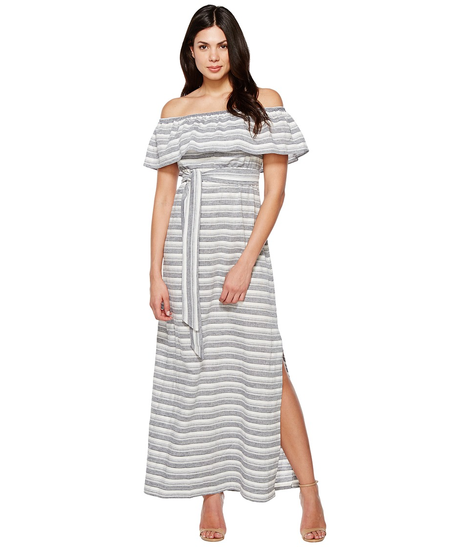 Vince Camuto - Cotton Off the Shoulder Maxi (Navy/Ivory) Women's Dress