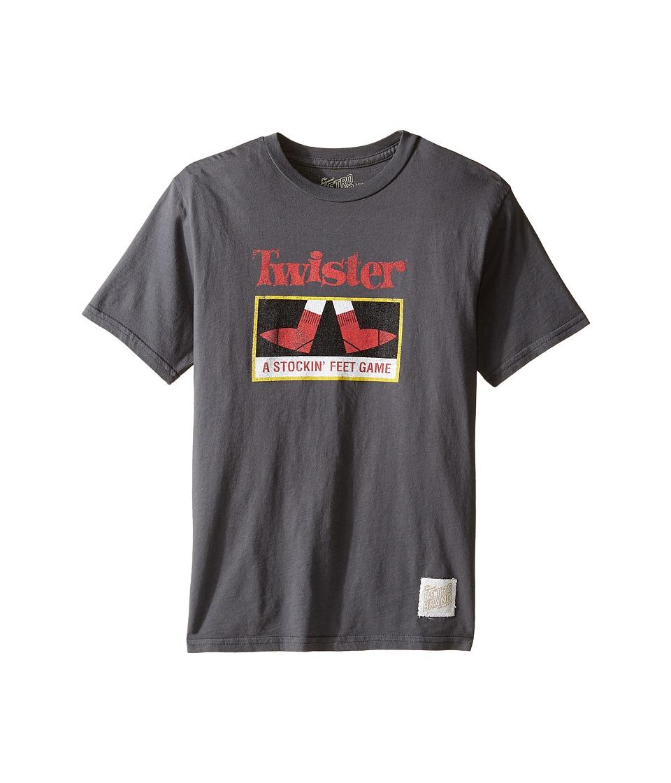 The Original Retro Brand Kids Twister Vintage Cotton Short Sleeve Tee (Big Kids) (Charcoal) Boy's T Shirt