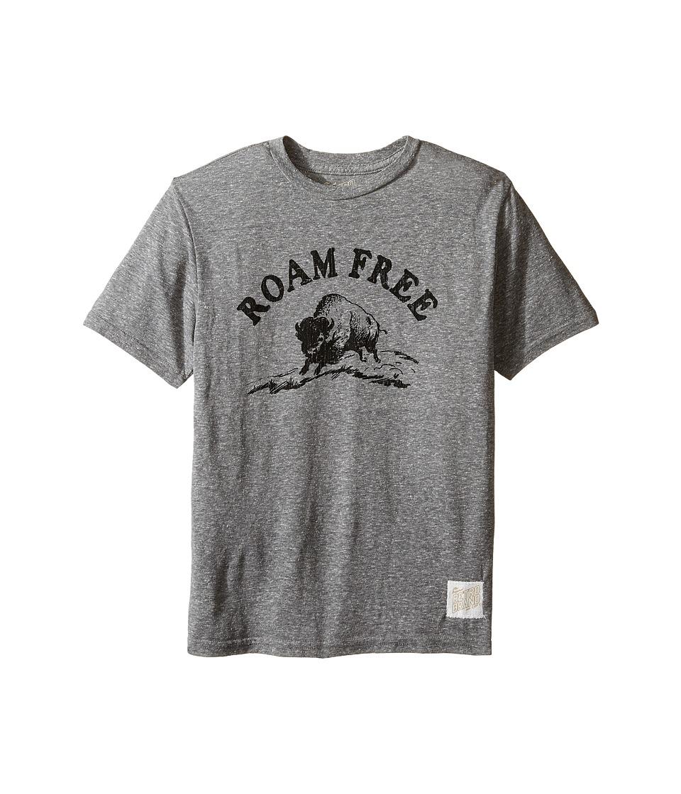 The Original Retro Brand Kids - Roam Free Short Sleeve Tri-Blend Tee (Big Kids) (Streaky Grey) Boy's T Shirt