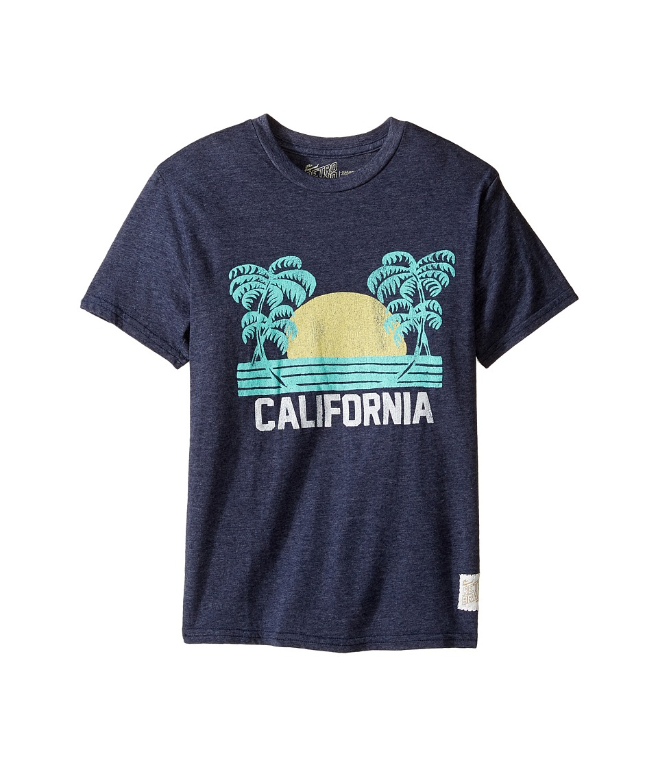 The Original Retro Brand Kids - California Short Sleeve Tri-Blend Tee (Big Kids) (Streaky Navy) Boy's T Shirt