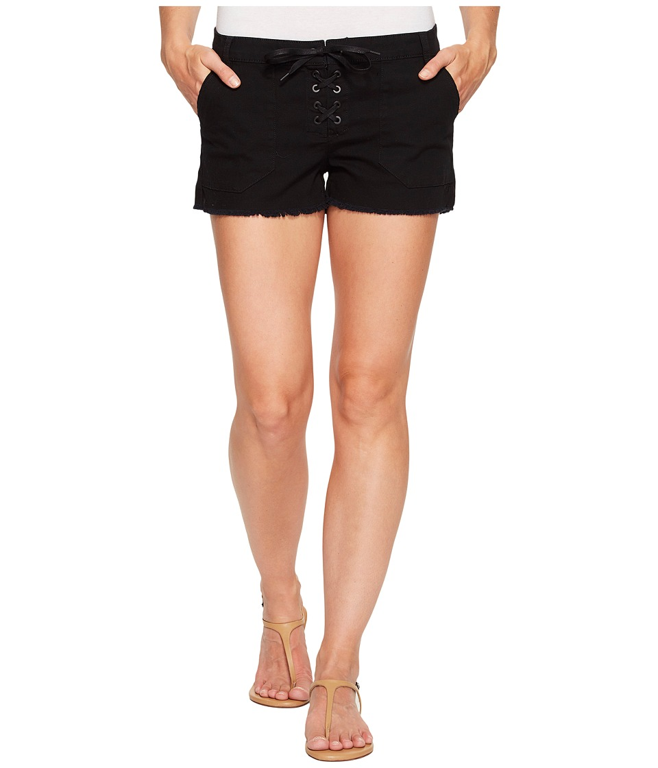 Blank NYC - Lace-Up Shorts in Black (Black) Women's Shorts