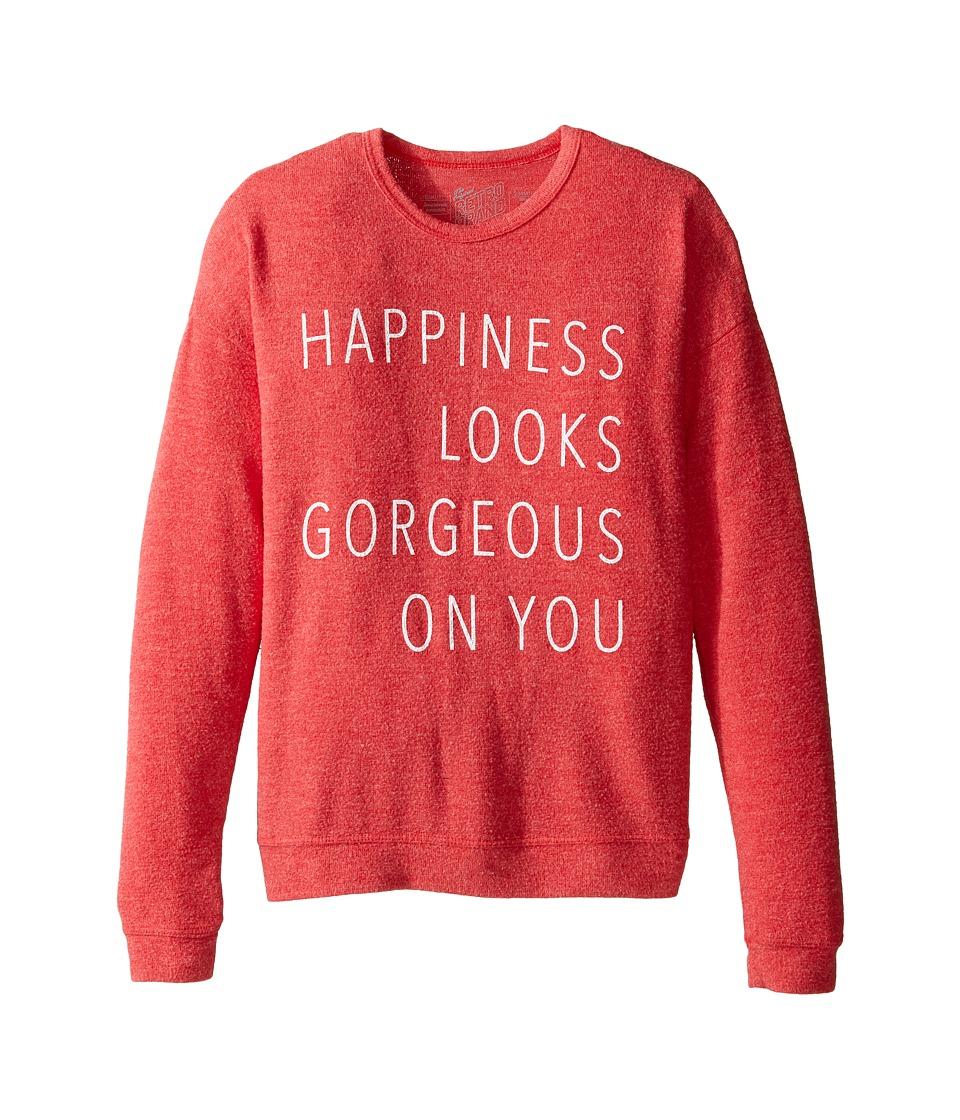 The Original Retro Brand Kids - Happiness Gorgeous On You Pullover Haaci Sweatshirt (Big Kids) (Red) Girl's Sweatshirt