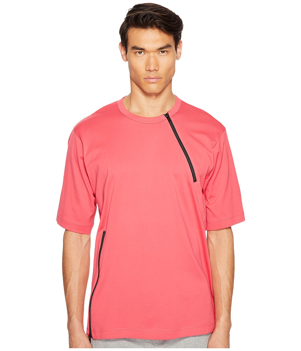 adidas Y-3 by Yohji Yamamoto - M Jersey Zip Tee (Blazer Pink S13) Men's T Shirt