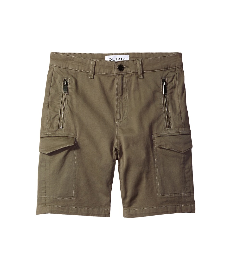 DL1961 Kids - Finn Shorts with Cargo Pockets in Patrol (Big Kids) (Patrol) Boy's Shorts
