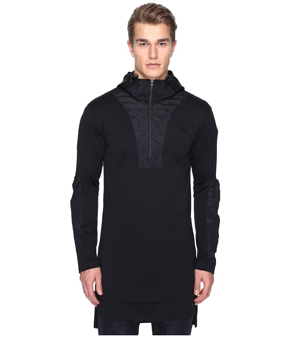 adidas Y-3 by Yohji Yamamoto - M 3D Hoodie (Black) Men's Clothing