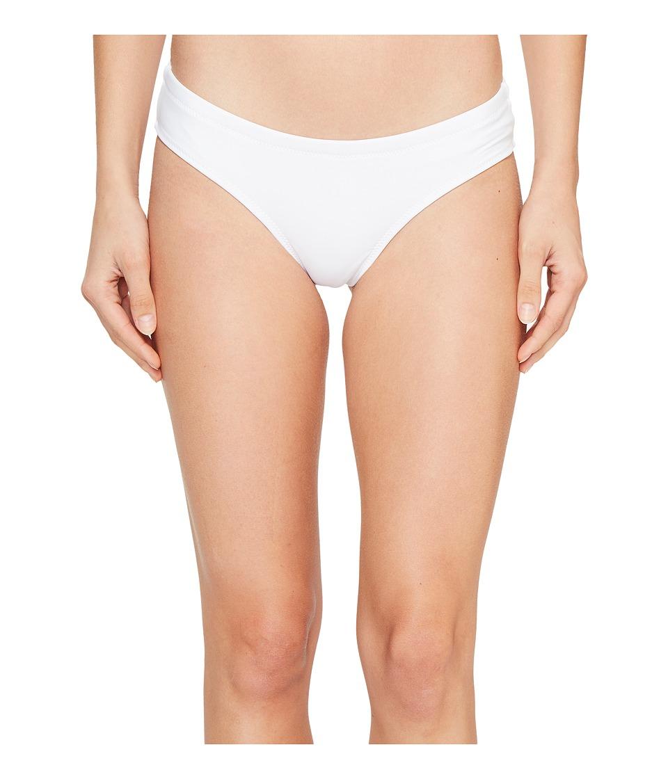 Volcom - Simply Solid Cheeky Bottom (White) Women's Swimwear