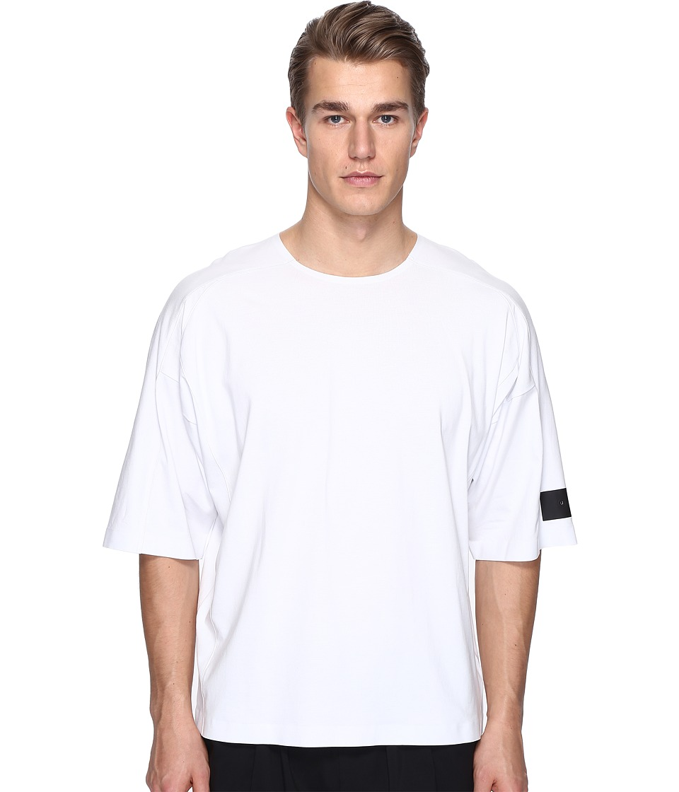 adidas Y-3 by Yohji Yamamoto - M Skylight Short Sleeve Tee (Crystal White S16) Men's T Shirt