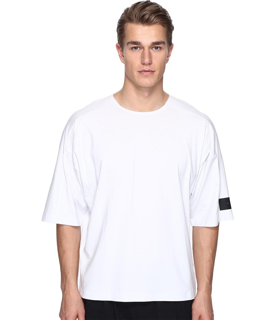 adidas Y-3 by Yohji Yamamoto - M Skylight Short Sleeve Tee (Crystal White S16) Men's T Shirt