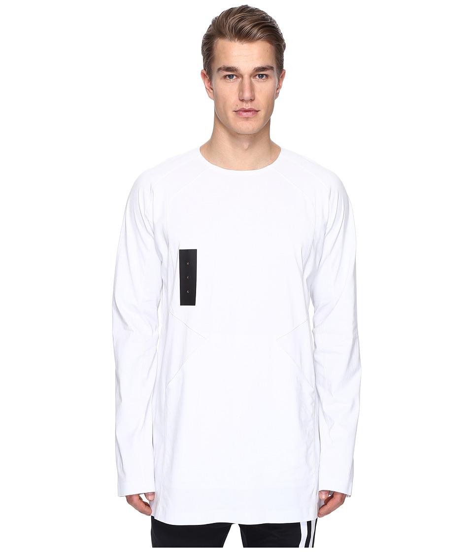 adidas Y-3 by Yohji Yamamoto - M Skylight Long Sleeve Tee (Crystal White S16) Men's T Shirt