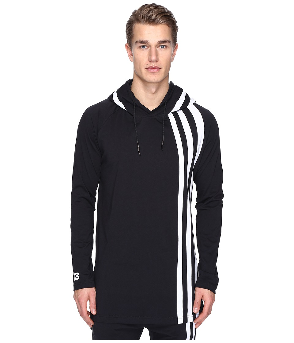 adidas Y-3 by Yohji Yamamoto - M 3 Stripe Hoodie (Black) Men's Clothing