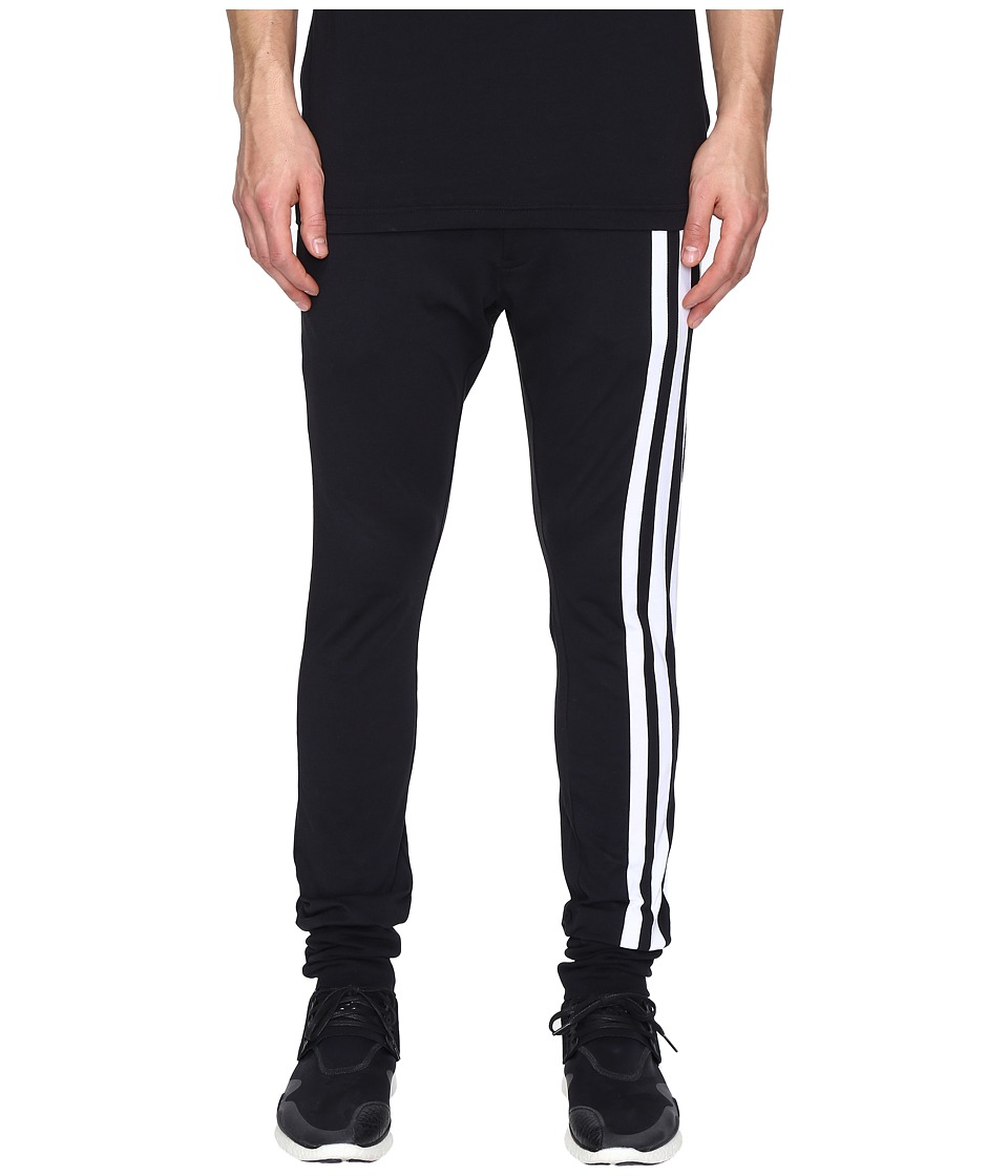 adidas Y-3 by Yohji Yamamoto - M 3 Stripe Pants (Black) Men's Casual Pants