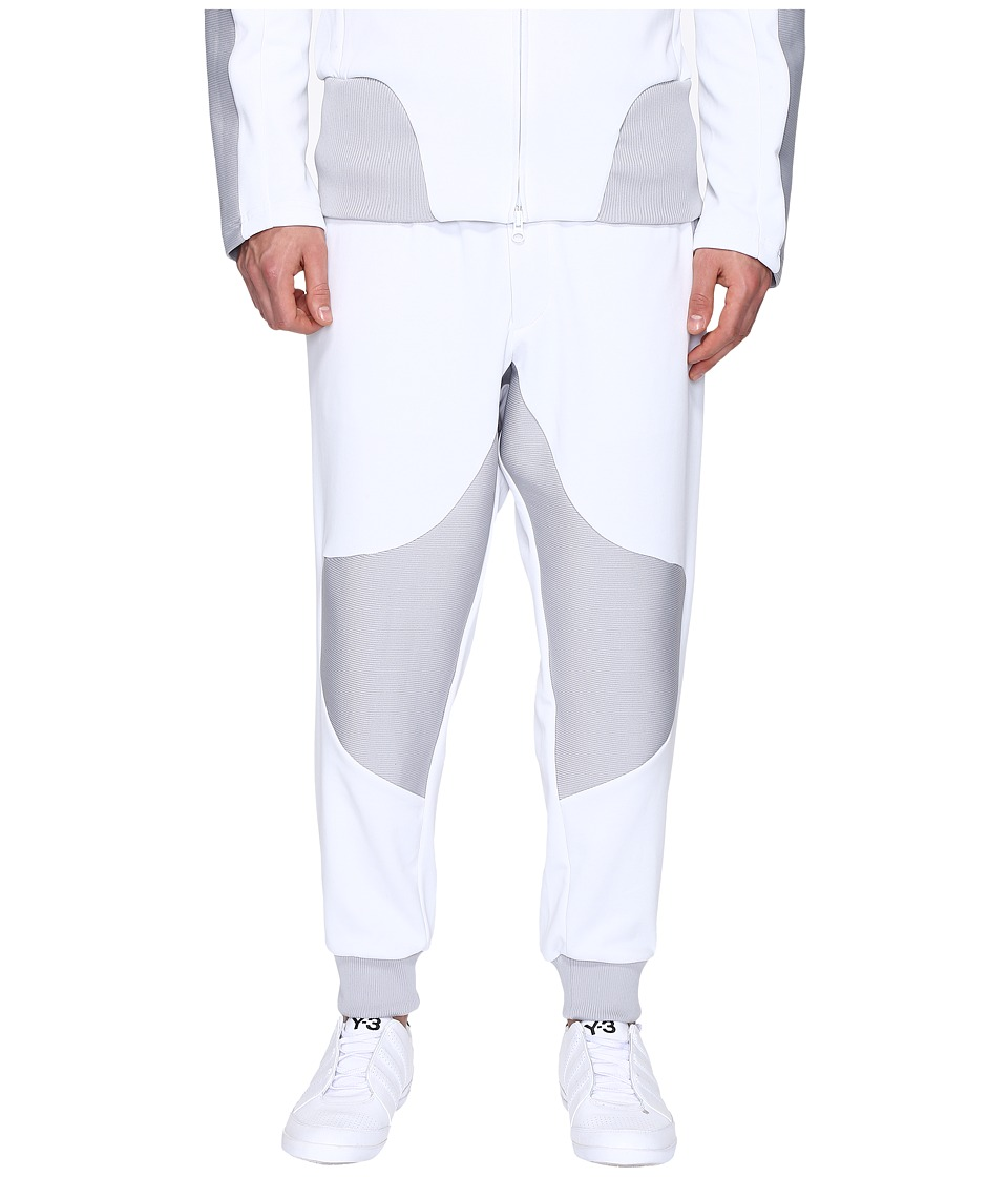 adidas Y-3 by Yohji Yamamoto - M Crew Track Pants (Crystal White S16) Men's Casual Pants