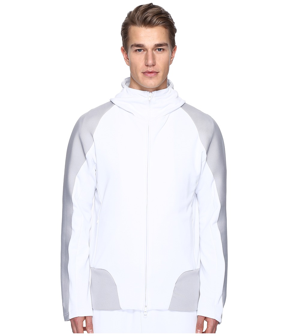 adidas Y-3 by Yohji Yamamoto - M Crew Track Hoodie (Crystal White S16) Men's Clothing