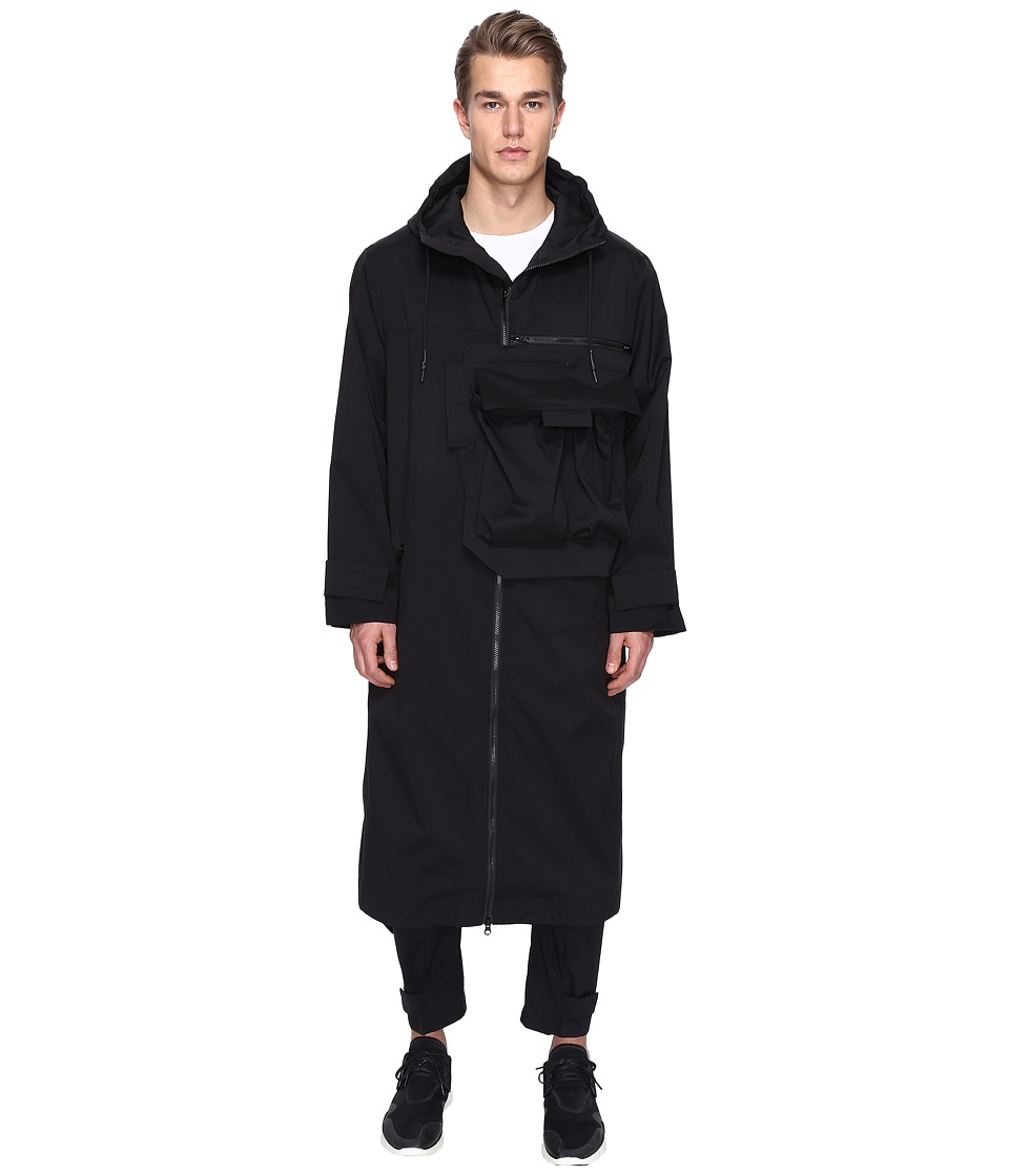 adidas Y-3 by Yohji Yamamoto - M Min Nylon Coat (Black) Men's Coat
