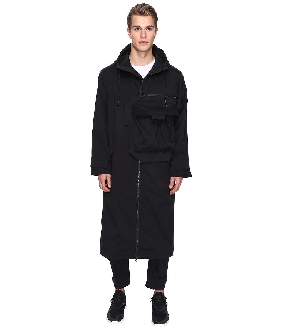 adidas Y-3 by Yohji Yamamoto - M Min Nylon Coat (Black) Men's Coat
