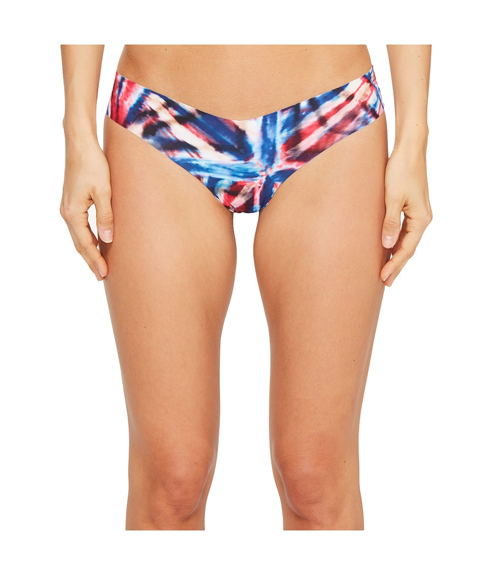 Commando - Print Thong CT02 (Red/Blue Tie-Dye) Women's Underwear