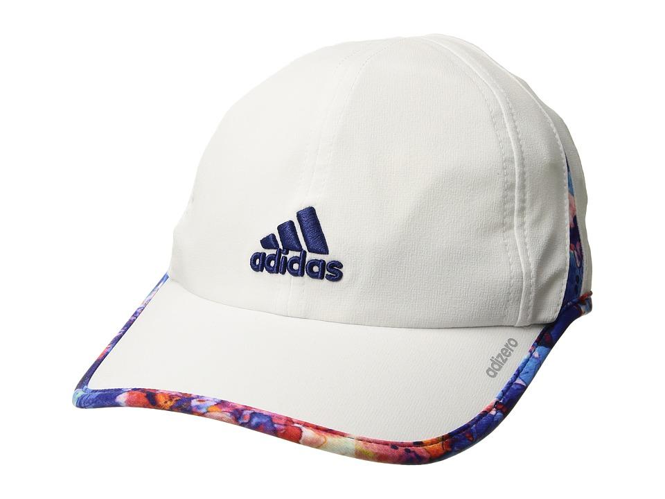 adidas - Adizero II Cap (White/Jodo Print/Mystery Ink Blue) Caps