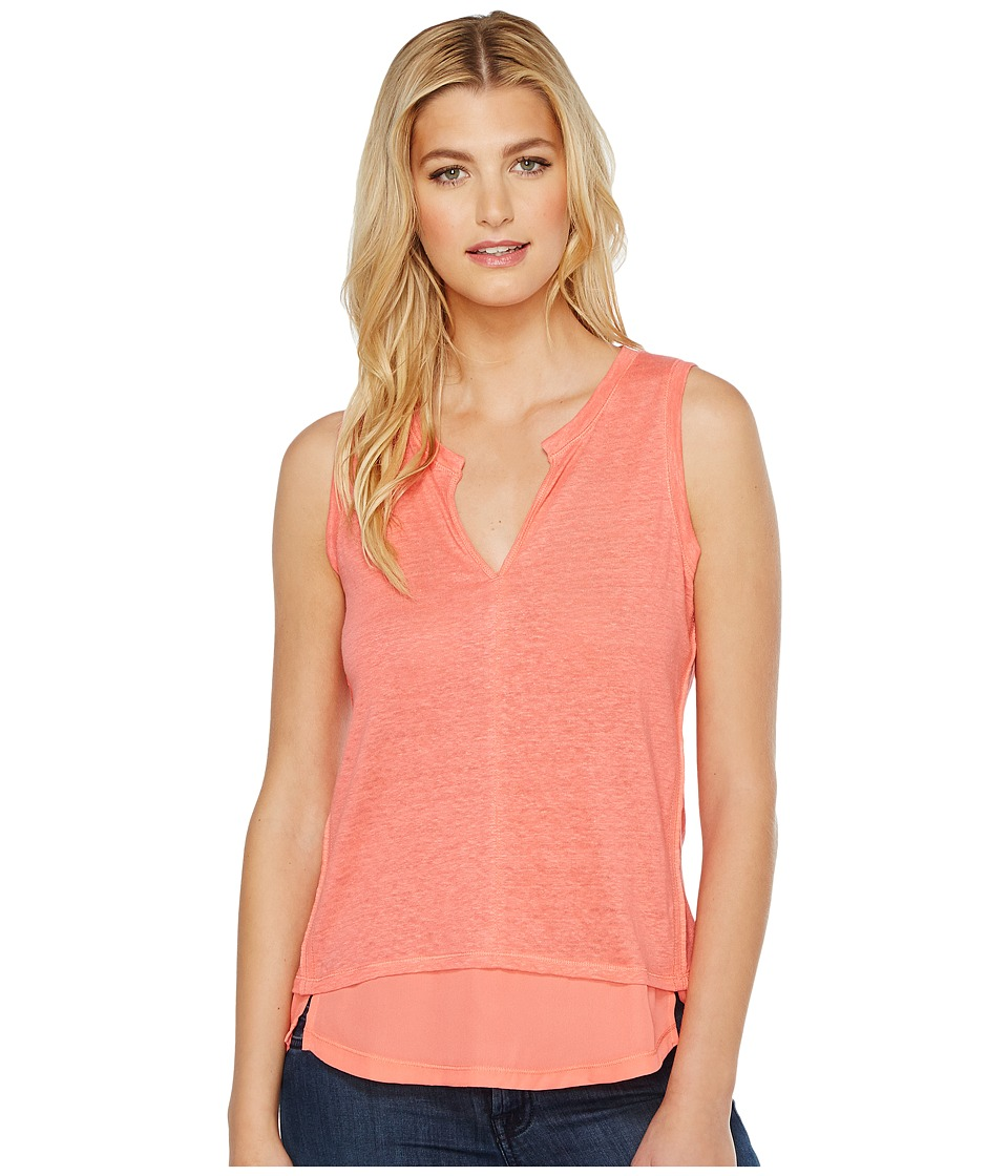 Sanctuary - City Tunic Tank Top (Cuban Coral) Women's Sleeveless