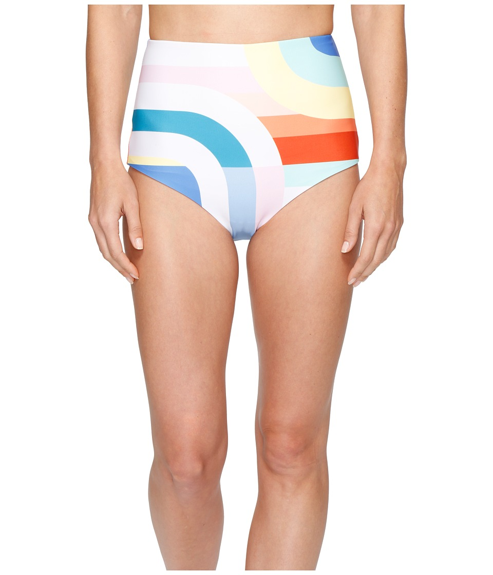 Mara Hoffman - Meridian High Waist Bottom (White Multi) Women's Swimwear