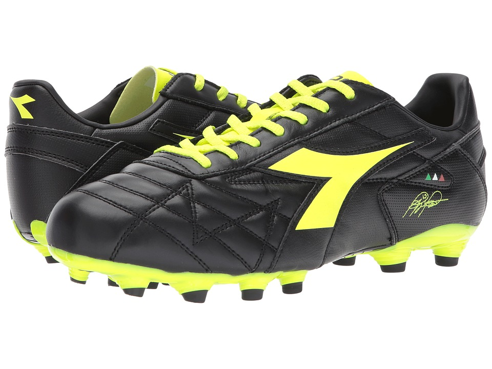 Diadora - M. Winner RB LT MG14 (Black/Yellow Flourescent) Soccer Shoes