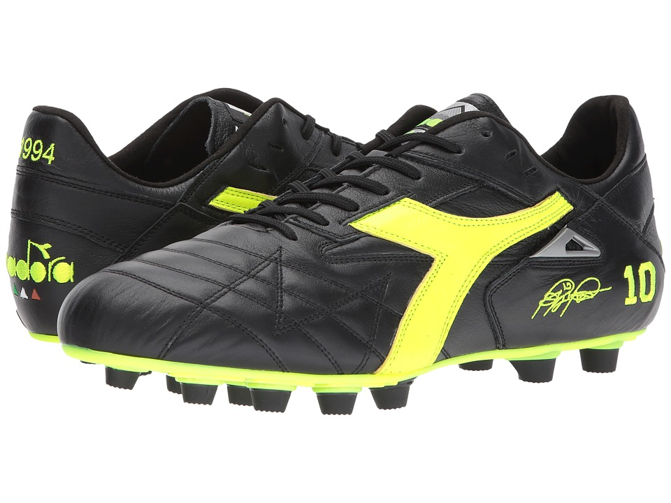 Diadora - M. Winner RB Italy OG (Black/Yellow Flourescent) Soccer Shoes