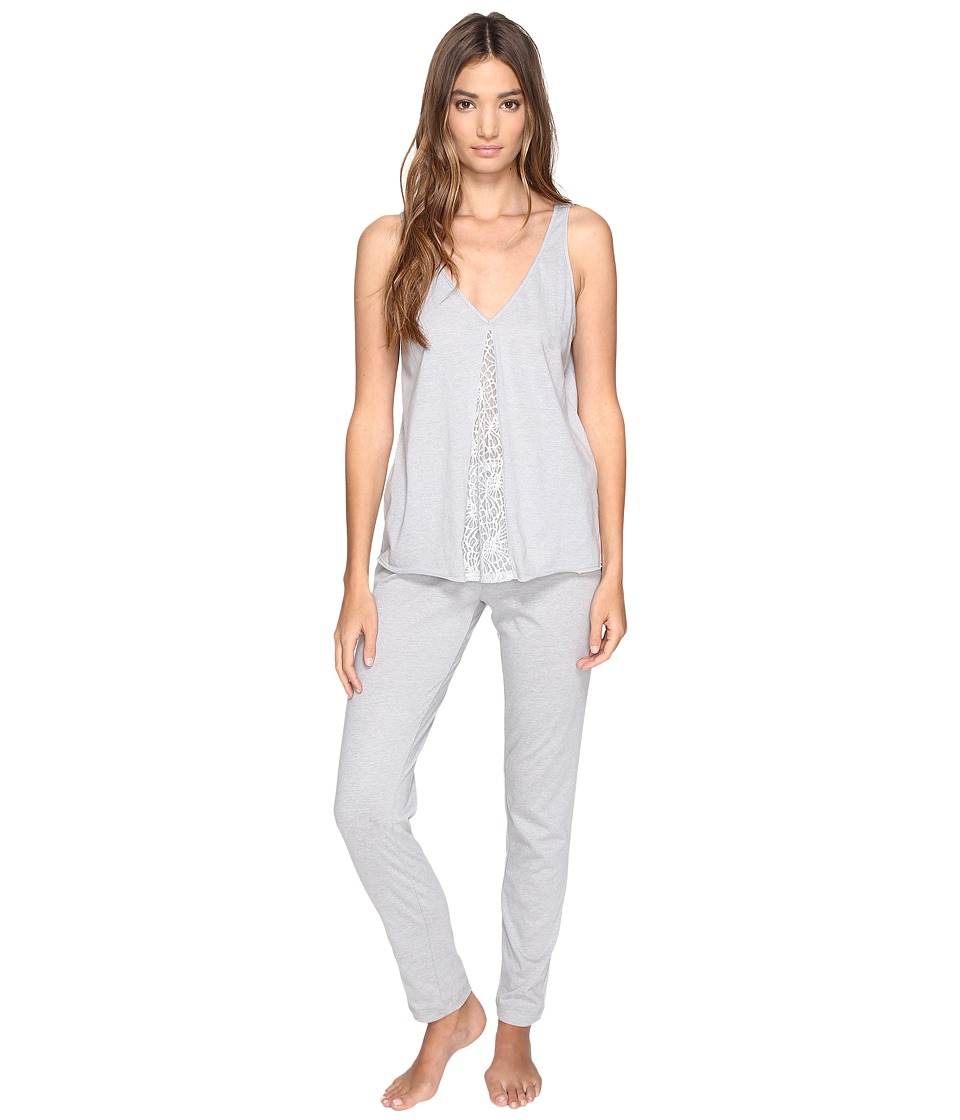Josie - Easy Breezy Tank/Pants PJ (Light Heather Grey) Women's Pajama Sets