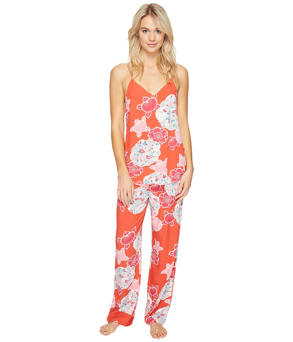 Josie - Enchanted Garden Tank/Pants PJ (Coral Island) Women's Pajama Sets