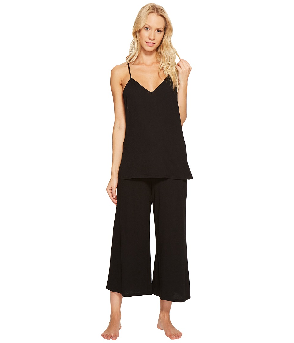 Josie - Easy Breezy Tank PJ Set (Black) Women's Pajama Sets