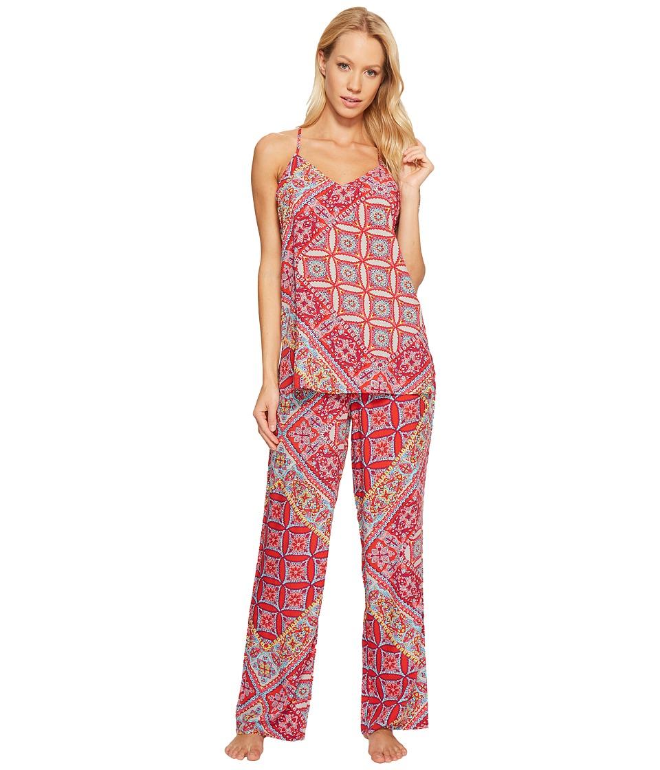 Josie - Summer Festival PJ Set (Red Jasper with Hibiscus) Women's Pajama Sets