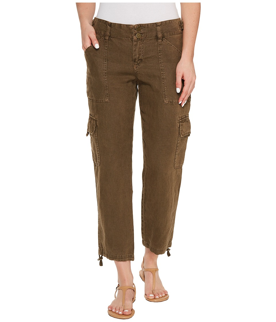 Sanctuary - Terrain Linen Crop Pants (New Brown Olive) Women's Casual Pants