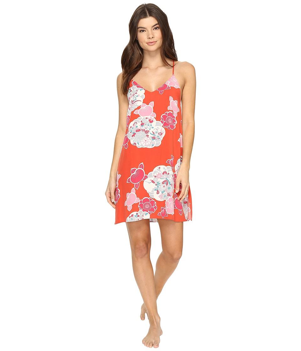 Josie - Enchanted Garden Chemise (Coral Island) Women's Pajama