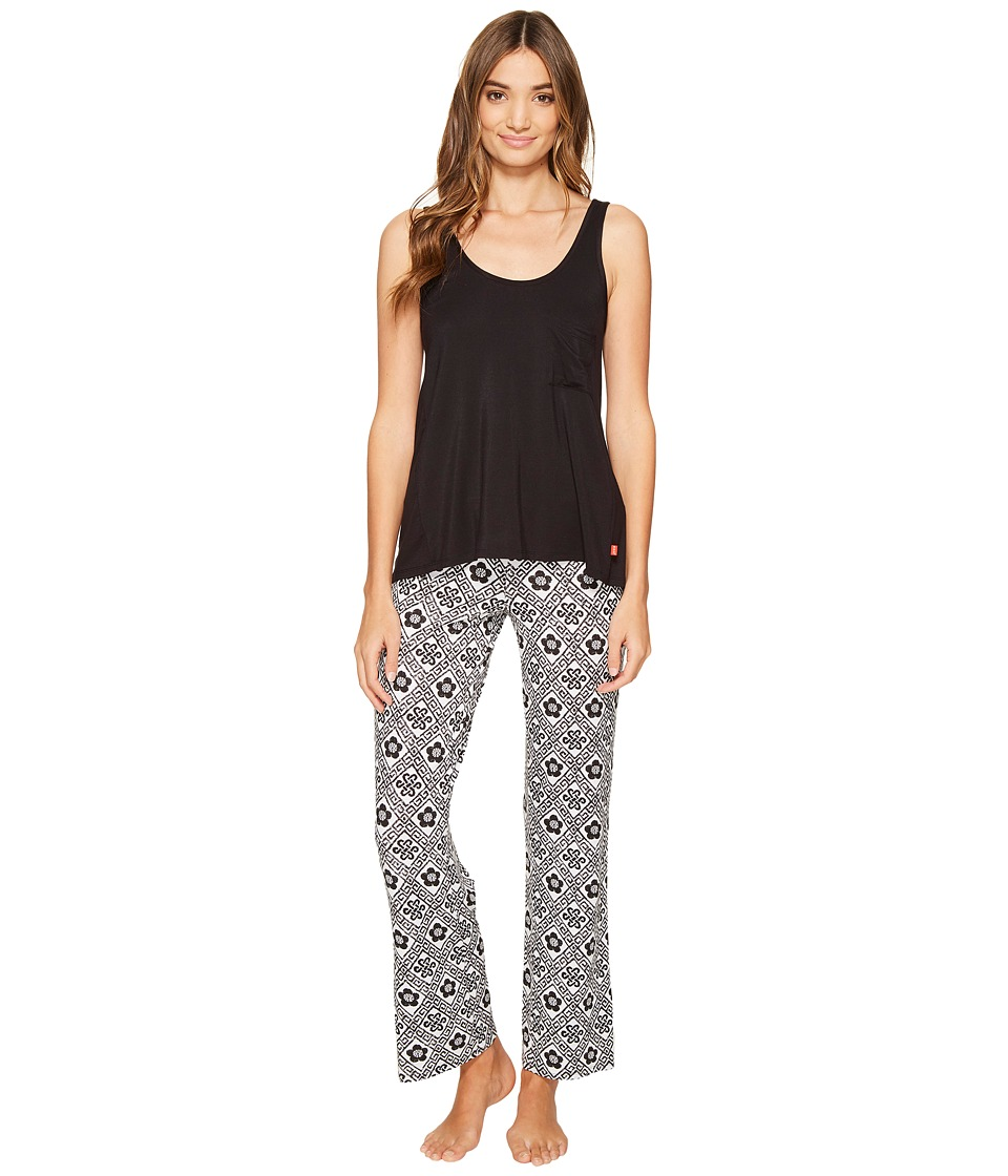 Josie - Mesmerized Tank Pants PJ (White/Black) Women's Pajama Sets